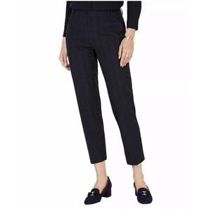 New Charter Club navy blue plaid ankle dress pants